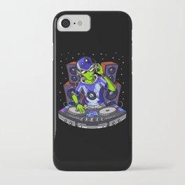 Space Alien Music DJ iPhone Case