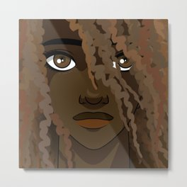 Portrait of a Young African American woman Metal Print