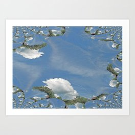 Blue Skies Fractal Art Print