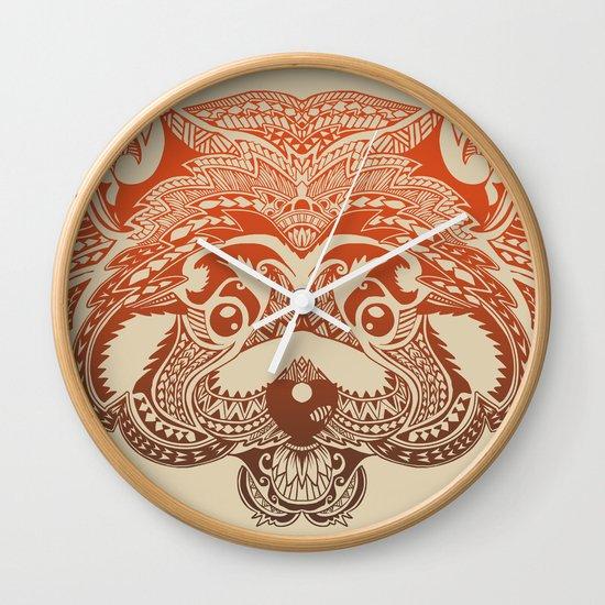 Polynesian Red Panda Wall Clock