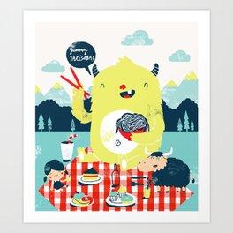 yummy yakisoba! Art Print