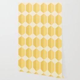 Hexagonal Pattern - Golden Spell Wallpaper