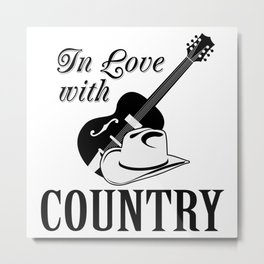 In love with country Metal Print