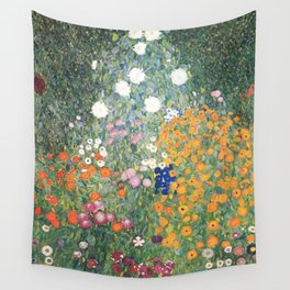 Gustav Klimt Flower Garden Wandbehang