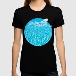 Tropical Ocean by Black Dwarf Designs T-shirt