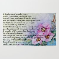 poem Area & Throw Rugs featuring A Mother's Day Poem by Frankie Cat