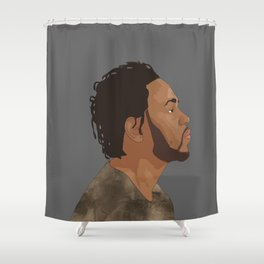 Kendrick Lamar, Gray Shower Curtain