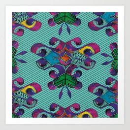 3 - Teal Art Print