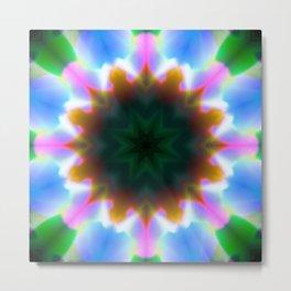 Color Wash Mandala Abstract Design Metal Print