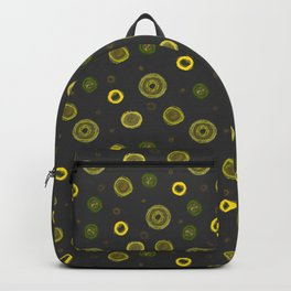 Lime Green Circles And Spirals Backpack