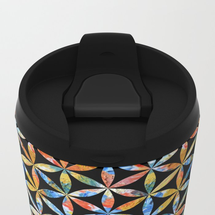 Flower of Life Pattern 4 Metal Travel Mug