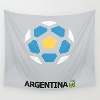 argentina Wall Tapestries featuring Argentina National Team by Earl of Grey