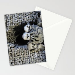 Ossuary (Bones and Skulls in the Cemetery Church of All Saints) Stationery Cards