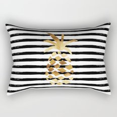 Pineapple & Stripes Rectangular Pillow