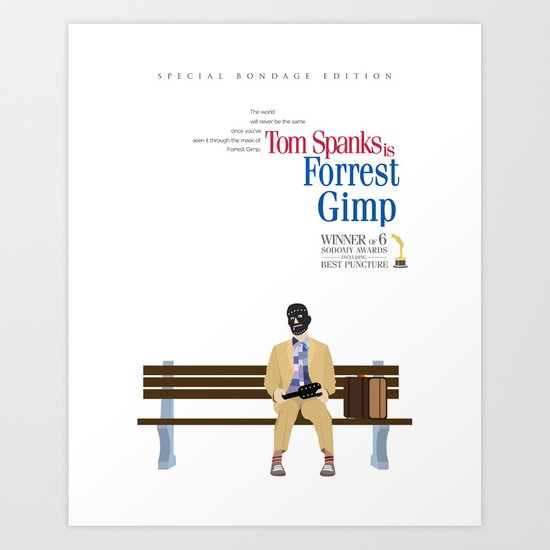 Forrest Gimp Movie Poster Art Print