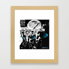 Leaders of The Pack Framed Art Print
