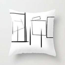 Minialist Black and White Throw Pillow