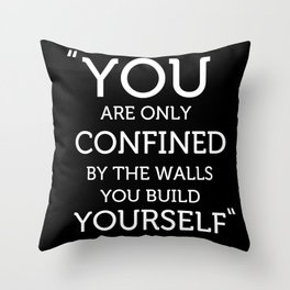 The Walls you Build Yourself - Typography Poster. Throw Pillow