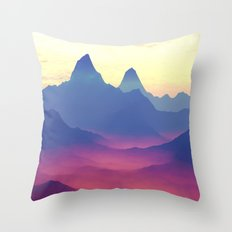 Mountains of Another World Throw Pillow