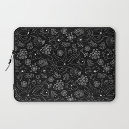 Cephalopods - Black and White Laptop Sleeve