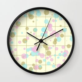 Spotted geometric pattern Wall Clock