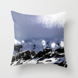Light on mountains and clouds Throw Pillow