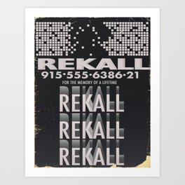 Rekall ( Total Recall ) Vintage magazine commercial. Art Print