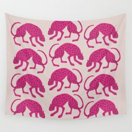Wild Cats - Pink Wall Tapestry