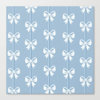 bows Canvas Prints featuring Bows by Pink Berry Patterns