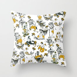 Zodiac Toile Pattern Throw Pillow