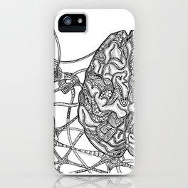 Neurons & Brain iPhone Case