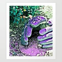 Safety in my hands Art Print