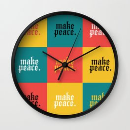 make peace Wall Clock