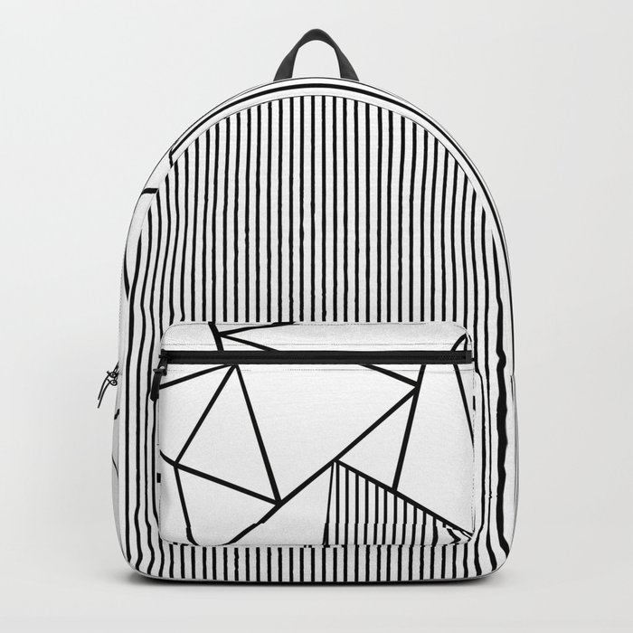 Ab Lines White Backpack