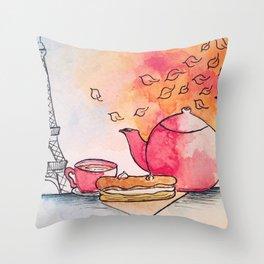 Morning in Paris Throw Pillow