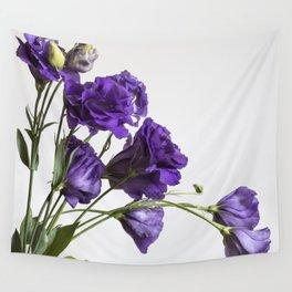 Purple Lisanthus Flowers #1 Wall Tapestry