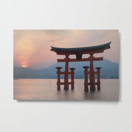 Miyajima sunset Metal Print