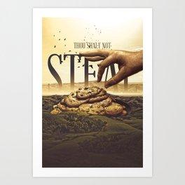 Commandment 8 - Thou Shalt Not Steal Art Print