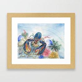 Under The Sea 2 - Lobster Framed Art Print