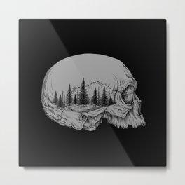 SKULL/FOREST II Metal Print