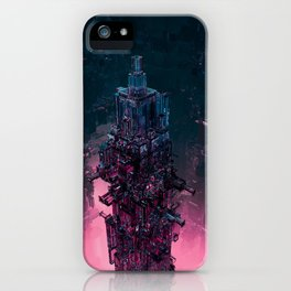 The Technocore / 3D render of futuristic structure iPhone Case