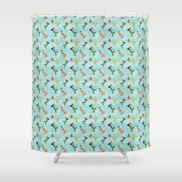 Coney Island Mermaid Parade Pattern Shower Curtain