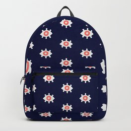 Evil Eye Dots – Navy & Coral Palette Backpack
