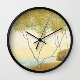 Quiet Morning On The Lake Wall Clock