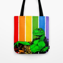Dino Pride - Raptor Jeff Tote Bag