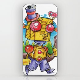robot stroll iPhone Skin