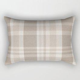 Checkered, Plaid Prints, Warm Brown Rectangular Pillow