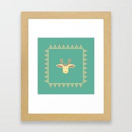 Happy Jackalope Framed Art Print
