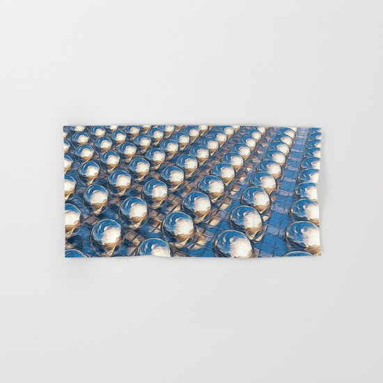 Abstract Spheres In A Row Hand & Bath Towel