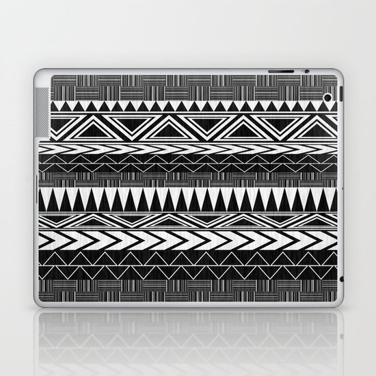Tribal Monochrome. Laptop & iPad Skin